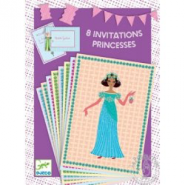 Djeco - Cartes d'invitations - Invitation des princesses
