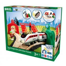 BRIO CIRCUIT DE VOYAGEUR & LOCOMOTIVE INTELLIGENTE