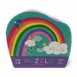 12 pc Mini Puzzle Rainbow
