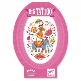 Djeco - Tatouages - Big Tattoos - Rose India