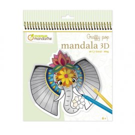 Avenue Mandarine - GY106C - Graffy Pop Mandala 3D, Animaux de la savane