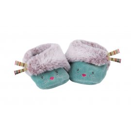 Moulin Roty - Chaussons bleus chat Les Pachats